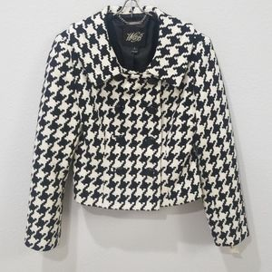 WHBM Exploded Houndstooth Double Breasted Jacket 8
